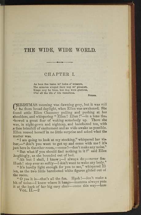 "First Page of Text in Volume 2 of the 1891 J. B. Lippincott Co. ""New Edition"" Reprint"