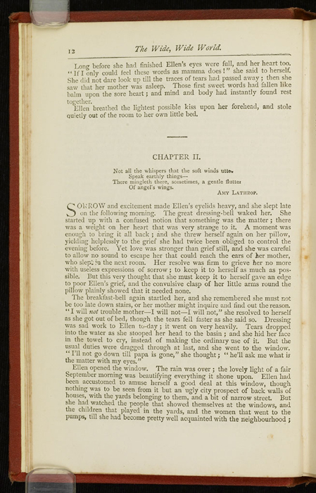 """Example Chapter Break of the [1877] Ward, Lock & Co. """"Good Tone Library, Complete Edition"""" Reprint"""