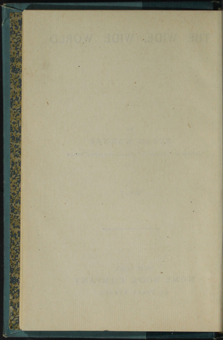 Verso of Title Page to Volume 1 of the [1902] Home Book Co. Reprint, Version 3
