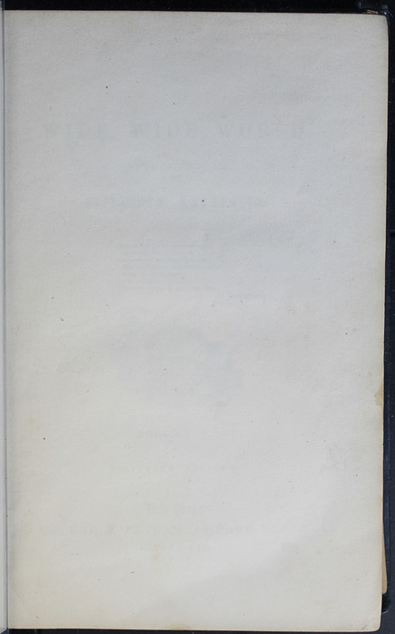 Recto of Third Front Flyleaf of Volume 1 of the 1852 George P. Putnam 16th Edition, Version 2