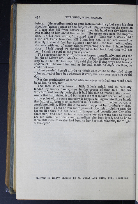 """Colophon on Last Page of Text in the [1896] Simpkin, Marshall & Co., Ltd. """"The Evergreen Library"""" Reprint"""