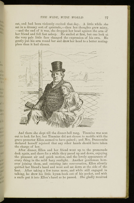 Illustration on Page 77 of the 1896 Hodder and Stoughton Reprint Depicting Ellen and George Marshman Reading Hymns Aboard the Steamboat