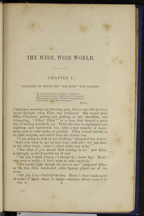"First Page of Text in Volume 2 of the 1852 James Nisbet, Sampson Low, Hamilton, Adams & Co. ""Second Edition"" Reprint"