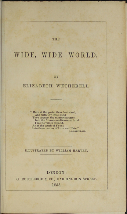 Title Page of the 1853 G. Routledge and Co. Reprint