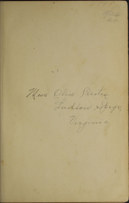 Recto of Front Flyleaf with Inscription of the [1902] H. M. Caldwell Co. Reprint