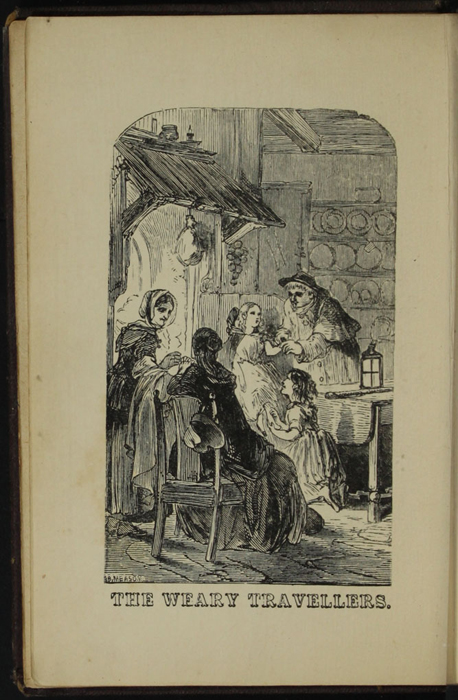 """Frontispiece to the [1867] Milner and Sowerby """"Wide, Wide World Library"""" Reprint Depicting the Inn"""