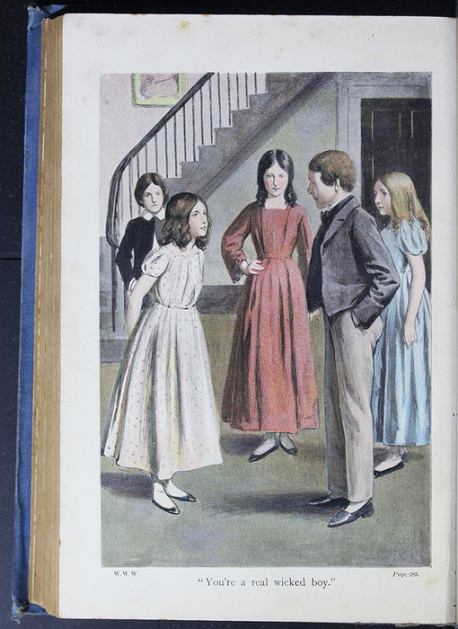 "Illustration on Page 284b of the [1910] Collins' Clear-Type Press ""The Challenge Series"" Reprint Depicting Ellen Confronting the Children Playing at the Marshmans'"
