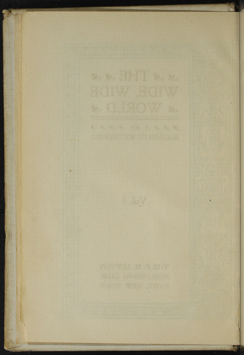 Verso of Title Page to Volume 2 of the [1898] F. M. Lupton Publishing Co. Reprint
