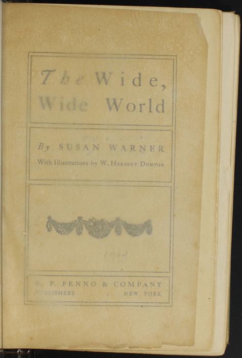 Recto of Tissue Preceding Title Page to the [1910] R. F. Fenno & Co. Reprint