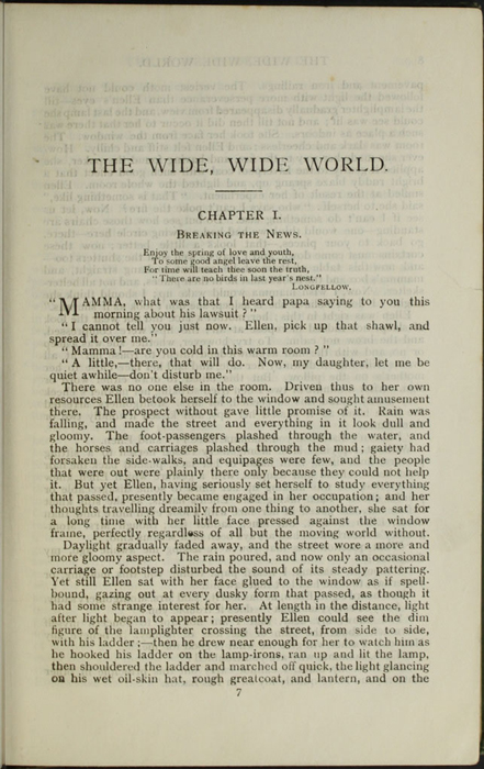 "First Page of Text of the [1903] Ward, Lock, & Co., Ltd. ""Complete Edition"" Reprint"