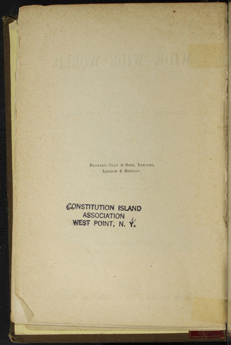 """Colophon for [1891] James Nisbet & Co. """"New ed."""" Reprint"""