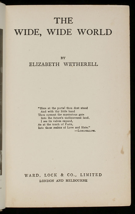 Title Page of the [1933] Ward, Lock & Co., Ltd., Reprint