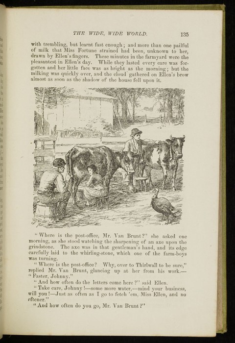 Illustration on Page 135 of the 1896 Hodder and Stoughton Reprint Depicting Ellen in the Barnyard with Mr. Van Brunt