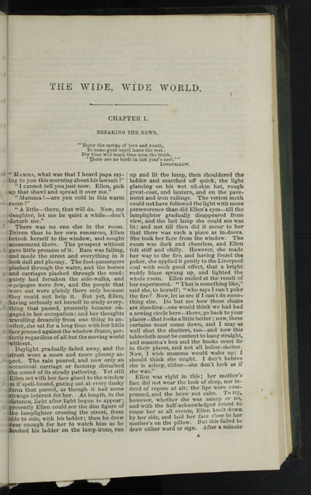 "First Page of Text in the 1853 Eli Charles Eginton & Co. ""Pocket Library"" Reprint"