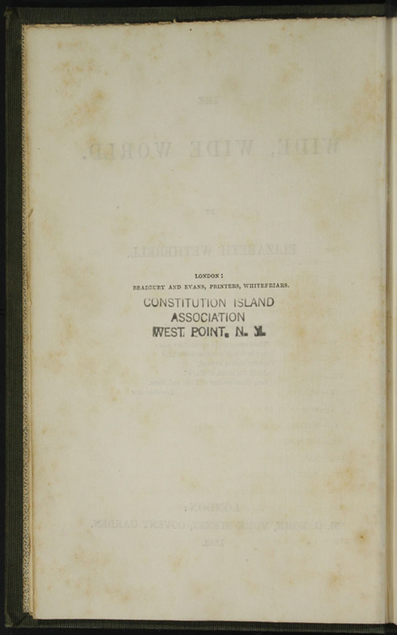 """Front Colophon for the 1853 H. G. Bohn """"Standard Library"""" Reprint"""