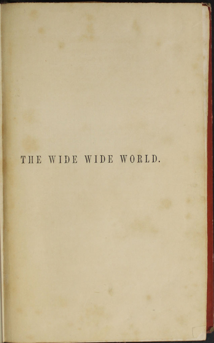 """Title Page to the 1853 T. Nelson & Sons """"Nelson's Library for Travellers and the Fireside"""" Reprint"""