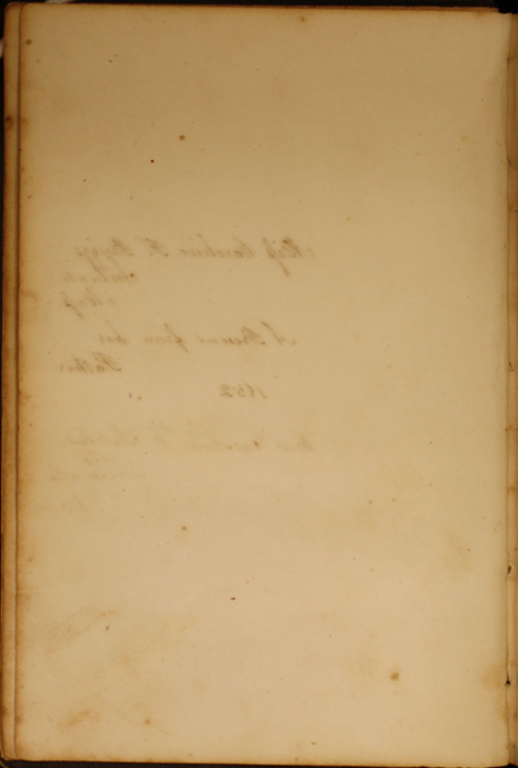 Verso of First Front Flyleaf of Volume 1 of the 1852 George P. Putnam 16th Edition, Version 1