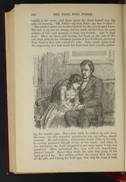 """Illustration of Page 560 of the 1903 J.B. Lippincott Co. """"New Edition"""" Reprint Depicting Ellen Reuniting with John in Scotland"""