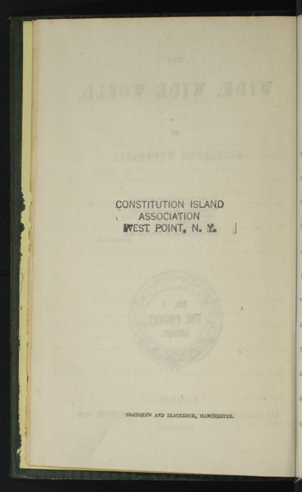 """Verso of Title Page to the 1853 Eli Charles Eginton & Co. """"Pocket Library"""" Reprint"""