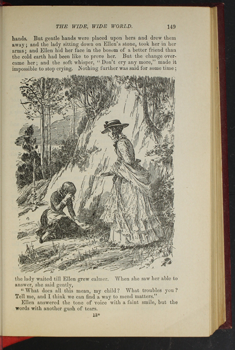 """Illustration on Page 149 of the 1903 J. B. Lippincott Co. """"New Edition"""" Reprint Depicting Alice Finding Ellen on the Cat's Back"""