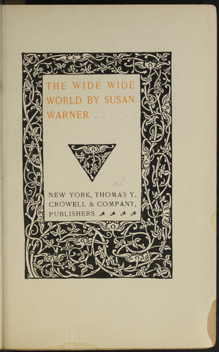 Decorative Title Page to the [1906] Thomas Y. Crowell & Co. Reprint