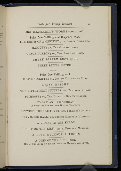 "Third Page of Back Advertisements in 1886 James Nisbet & Co. ""New ed. Golden Ladder Series"" Reprint"