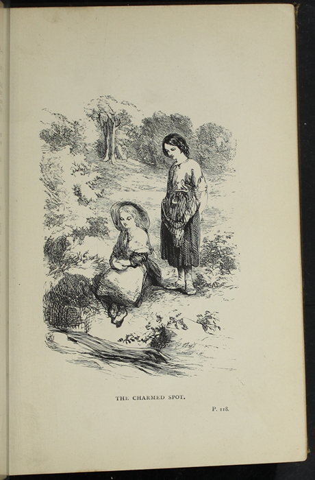 """Illustration on Page 118a of the [1891] James Nisbet & Co. """"New Edition"""" Reprint Depicting Nancy Finding Ellen at the Brook"""