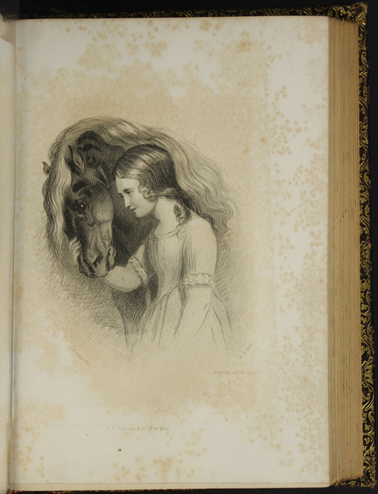 """Illustration on Page 106d of Volume 2 of the 1853 G.P. Putnam & Co. """"Illustrated Edition"""" Reprint,  Depicting Ellen and the Brownie"""
