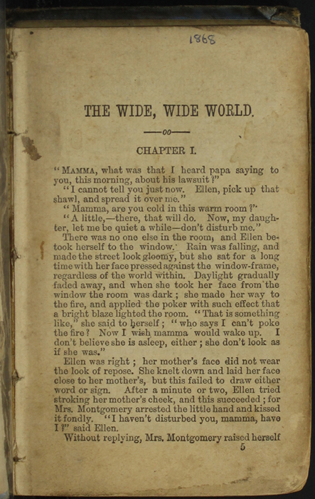 First Page of Text in the [1868] Milner & Co. Reprint, Version 1