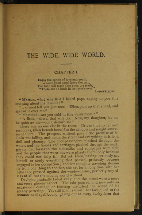"First Page of Text in the [1900] Donohue Brothers ""Completed and Unabridged Ed."" Reprint"