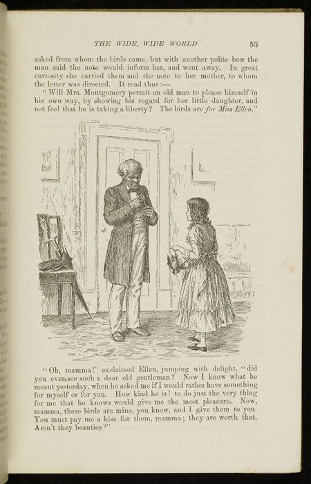 Illustration on Page 53 of the 1896 Hodder and Stoughton Reprint Depicting Ellen Receiving the Birds