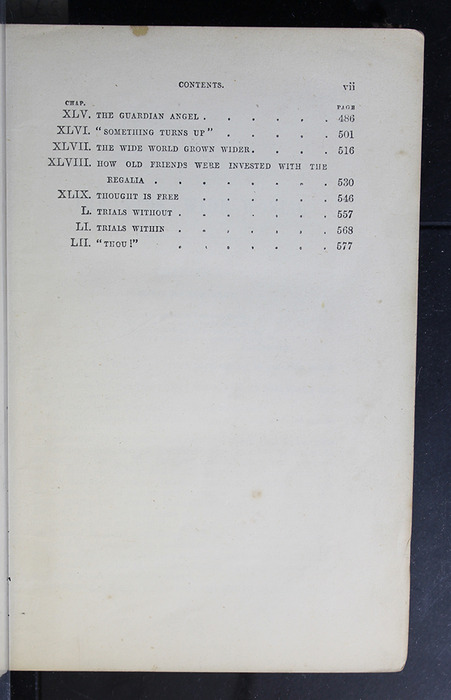 """Third Page of the Table of Contents of the 1886 James Nisbet & Co. """"New Edition"""" Reprint"""