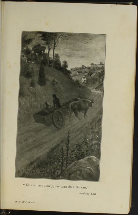 Illustration on Page 100a of the [1910] R.F. Fenno & Co. Reprint, Depicting Ellen in the Ox Cart