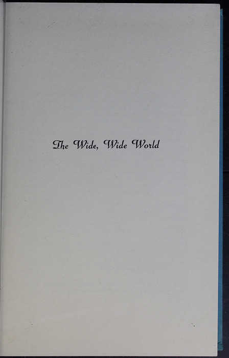 Second Half-Title Page in the 1955 WM. B. Eerdmans Publishing Co. Reprint