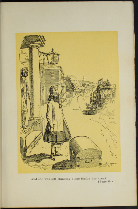 Illustration on Page 88a of the [1907] Grosset & Dunlap Reprint Depicting Ellen Arriving in Thirlwall
