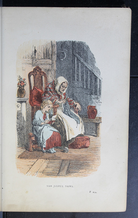 """Illustration on Page 254a of the 1886 James Nisbet & Co. """"New Edition"""" Reprint Depicting the Joyful News"""