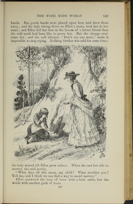 "Illustration on Page 149 of the 1892 J. B. Lippincott Co. ""New Edition"" Reprint Depicting Alice Finding Ellen on the Cat's Back"