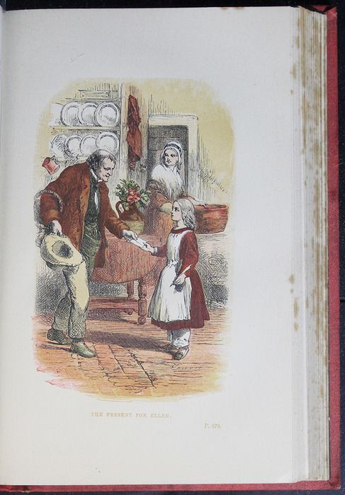 """Illustration on Page 378a of the 1879 James Nisbet & Co. """"Golden Ladder Series"""" Reprint Depicting the Present for Ellen"""