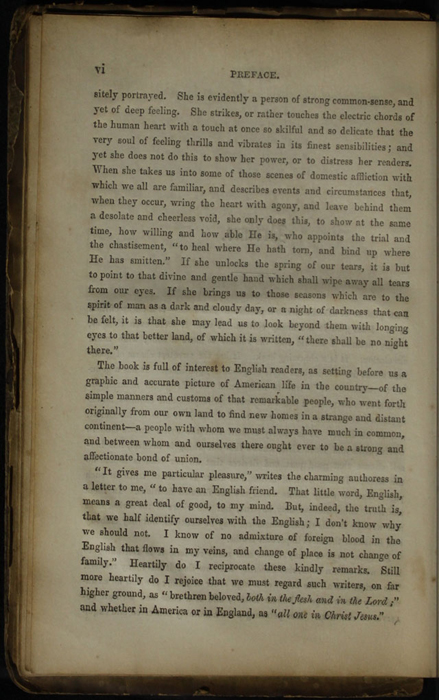 Page vi of the Preface to the [1853] Clarke, Beeton, & Co. Reprint, Version 1
