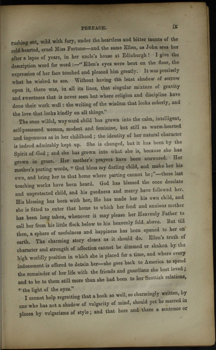 Page ix of the Preface to the [1853] Clarke, Beeton, & Co. Reprint, Version 1