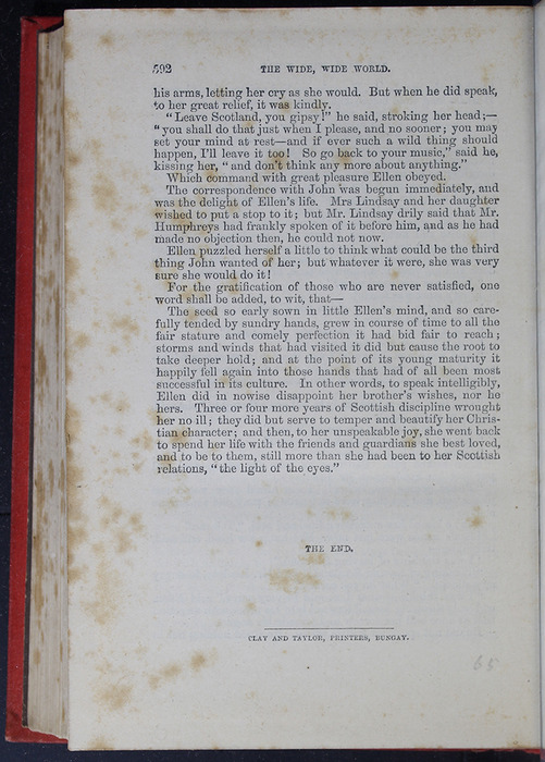 """Last Page of Text in the 1879 James Nisbet & Co. """"Golden Ladder Series"""" Reprint"""