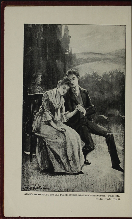 "Frontispiece to the [1898] A. L. Burt Co. ""The Home Library"" Reprint Depicting Alice Telling John of Her Illness"