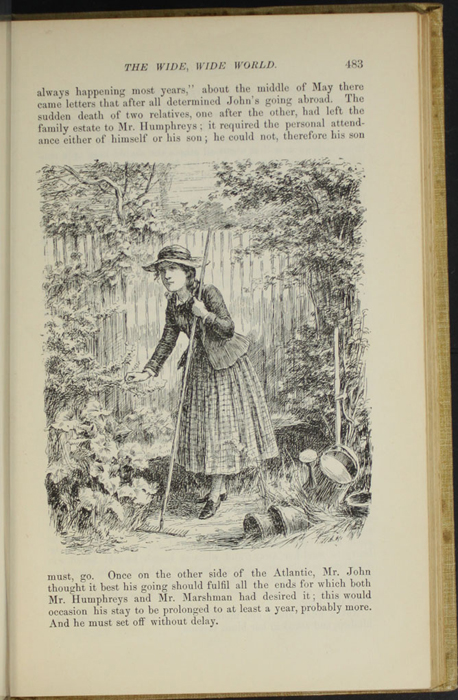 "Illustration on Page 483 of the 1892 J. B. Lippincott Co. ""New Edition"" Reprint Depicting Ellen Tending the Garden"