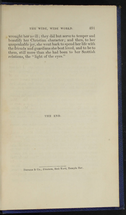 Colophon on Last Page of Text of Volume 2 of the 1852 Sampson Low Reprint