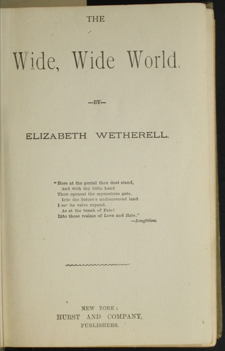 Title Page to the [1900] Hurst & Co. Reprint