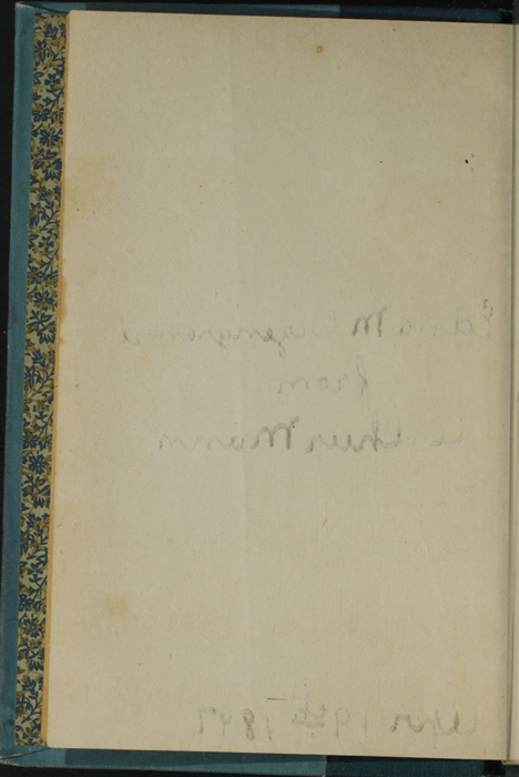 Verso of Second Front Flyleaf to Volume 2 of the [1902] Home Book Co. Reprint, Version 2