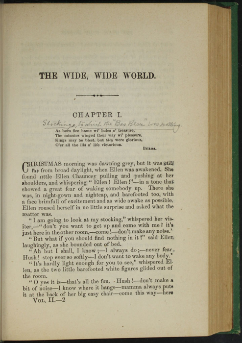 """First Page of Text in Volume 2 of the 1880 J. B. Lippincott & Co. """"New Edition"""" Reprint"""