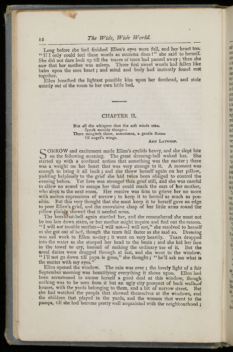 """Example Chapter Break of the [1892] Ward, Lock & Co. """"Pansy Series"""" Reprint"""