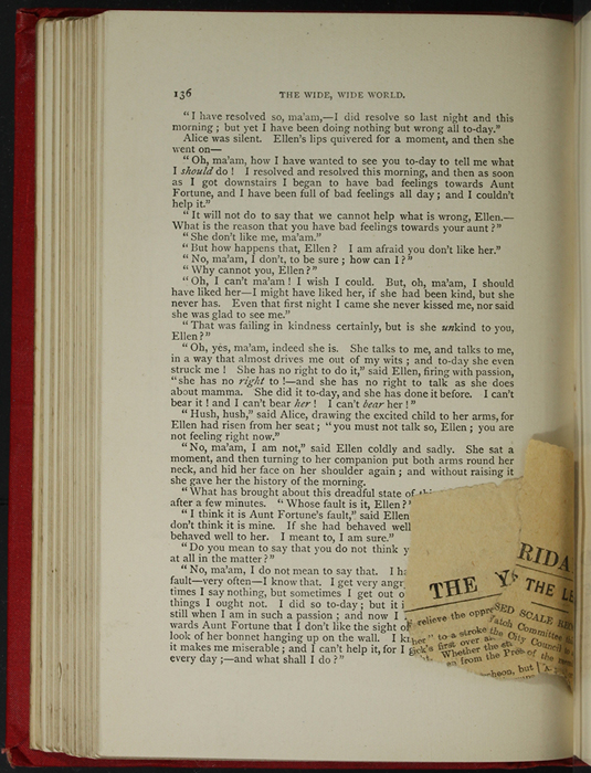 "Bookmark Between Pages 136 and 137 of the [1896] Walter Scott, Ltd. ""Complete Ed."" Reprint"