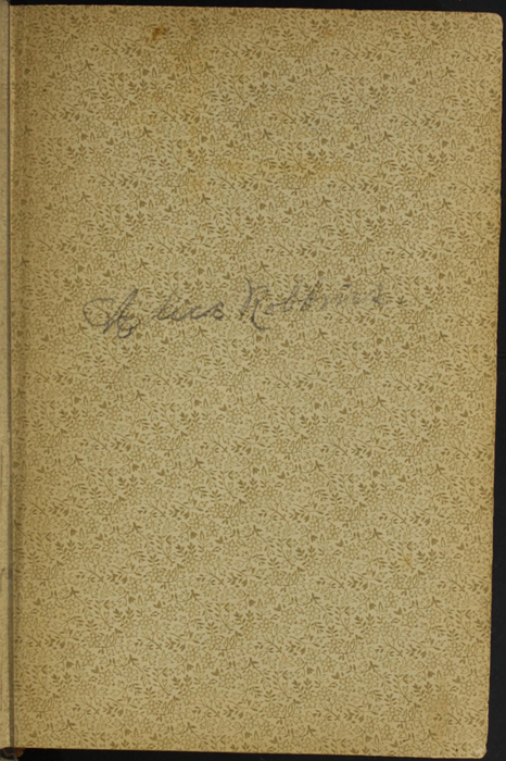 "Recto of Front Flyleaf with Inscription of the [1894] William L. Allison Co. ""Allison's Standard Library"" Reprint"